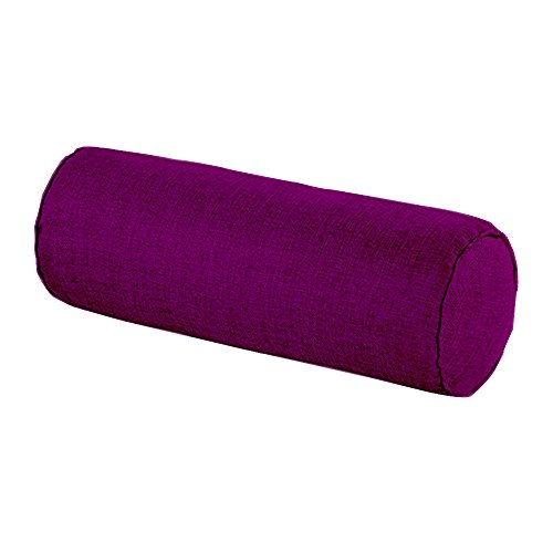 Car Round Cervical Neck Pillow Semi-Roll Pillow with Washable Organic Cotton Cover (Purple)