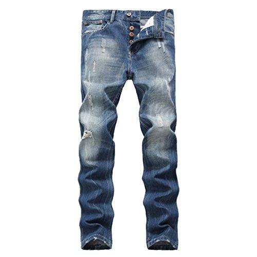 light blue colored jeans - 4