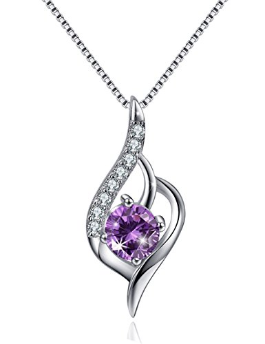 Angel Wing Necklace Silver Necklace CZ Charm Pendant Simulated