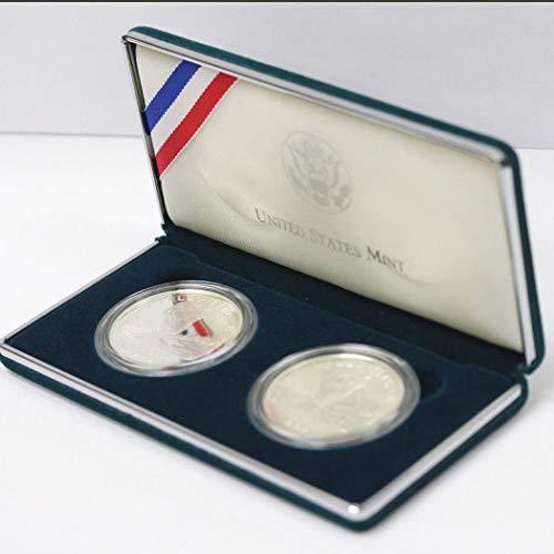 American Buffalo Commemorative Coin - 2001 US Commemorative 2 Coin American Buffalo Silver coin set OGP