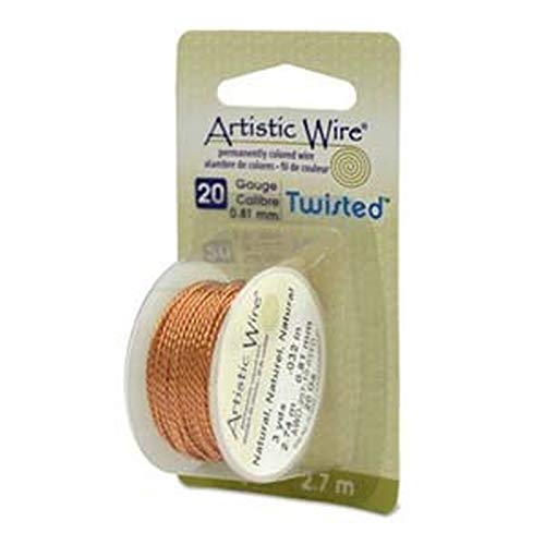 Artistic Wire - Twisted - Non-Tarnish Brass - 20 Gauge - 3yds - By Stallings Stained Glass