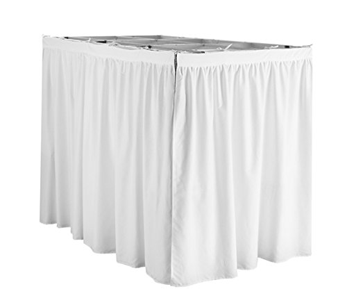 DormCo Extended Bed Skirt Twin XL (3 Panel Set) - White