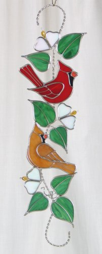 Stained Glass Cardinal Scroll ()