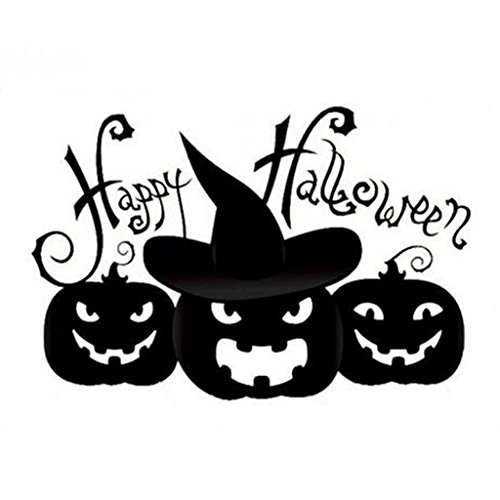 Best-topshop Pumpkin Wall Stickers, 22.83 x 17.72 inches / 58 x 45 cm, Halloween Party Removable DIY Decoration for Home Room Door (Best Door Decorations For Halloween)
