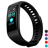 InnKoo Fitness Tracker Watch for Kids Women Men, Waterproof Activity Tracker with HR Heart Rate & Blood-Pressure Monitor, Pedometer Steps Calories Counter Smart Wristband, Color Screen Y5