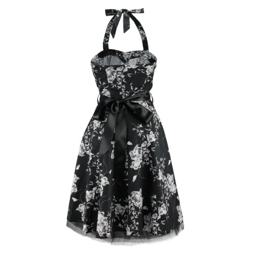 H&R London - Vestido - para mujer negro