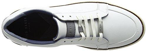 Ted Baker Rouu, Zapatillas para Hombre Blanco (White)
