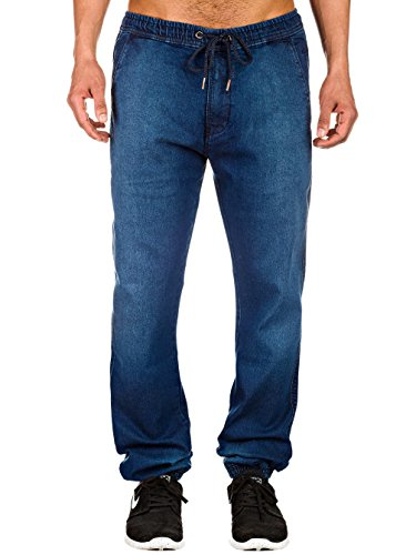 Uomo Indaco Jogger Pantalone Ginnico Reell Jeans Pantaloni FwqAA4