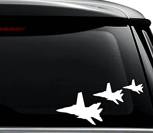 F-14 Tomcat Fighter Jet Plane Squadron Decal Sticker For Use On Laptop, Helmet, Car, Truck, Motorcycle, Windows, Bumper, Wall, and Decor Size- [12 inch] / [30 cm] Wide / Color- Gloss White