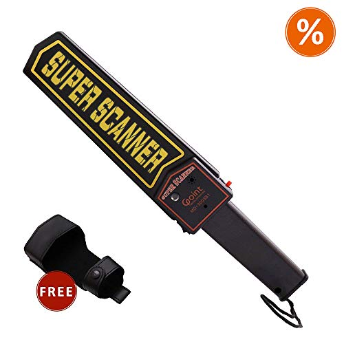 Lintat Adjustable Sensitivity Portable Handheld Metal Detector Security Scanner Wand with Belt Holster, Optional Sound & Vibration Modes For Sale