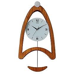 Sunhai Watches And Clocks Wall Clock Living Room Clock Modern European Style Creative Wall Clock Art Pendulum Clock Simple And Stylish Personality Mute The Clock (Color : Light Walnut Color)