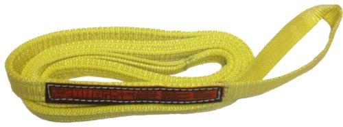 Stren-Flex EET1-901-6 Type 4 Heavy Duty Nylon Twisted Eye and Eye Web Sling, 1 Ply, 1600 lbs Vertical Load Capacity, 6' Length x 1