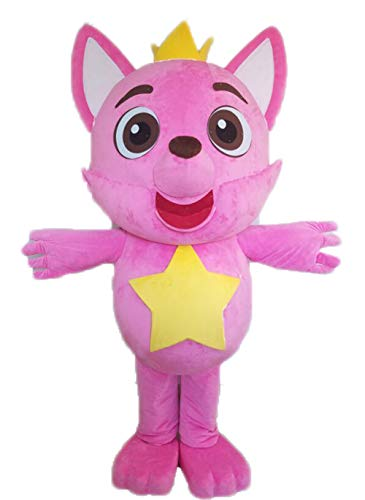 Birthday Party Baby Shark Character Fox Mascot Costume for Adult to Wear Cartoon Mascots Cosplay ()