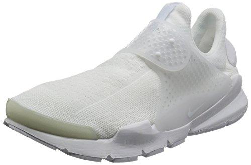 Nike Men Sock Dart Running Shoes White/White-white-black
