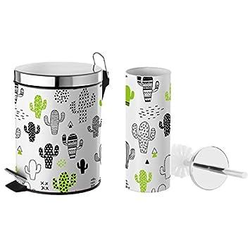 Captivant U0027dcasa   Ensemble Poubelle 3 Litres Et Brosse WC Design Original U0026quot ...