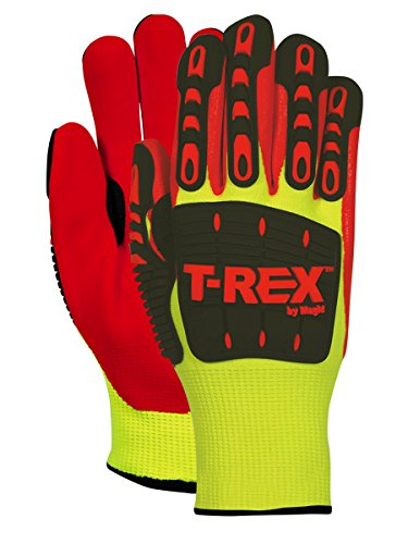 Magid Safety TRX545WM T-REX Cut Level 4 Thermal Impact Gloves, Medium, Yellow/Orange (One Pair) by Magid Glove & Safety (Image #1)