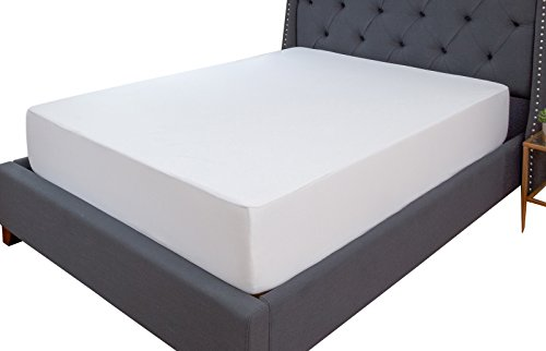Classic Brands Defend-A-Bed Premium Fitted Terry Cloth Waterproof Mattress Pad Washable, Queen