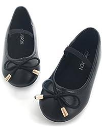 School Shoes for Girls Slip-on Mary Jane Flat Toddler Girl Dress Shoes(Little Kids/Toddler Girls)
