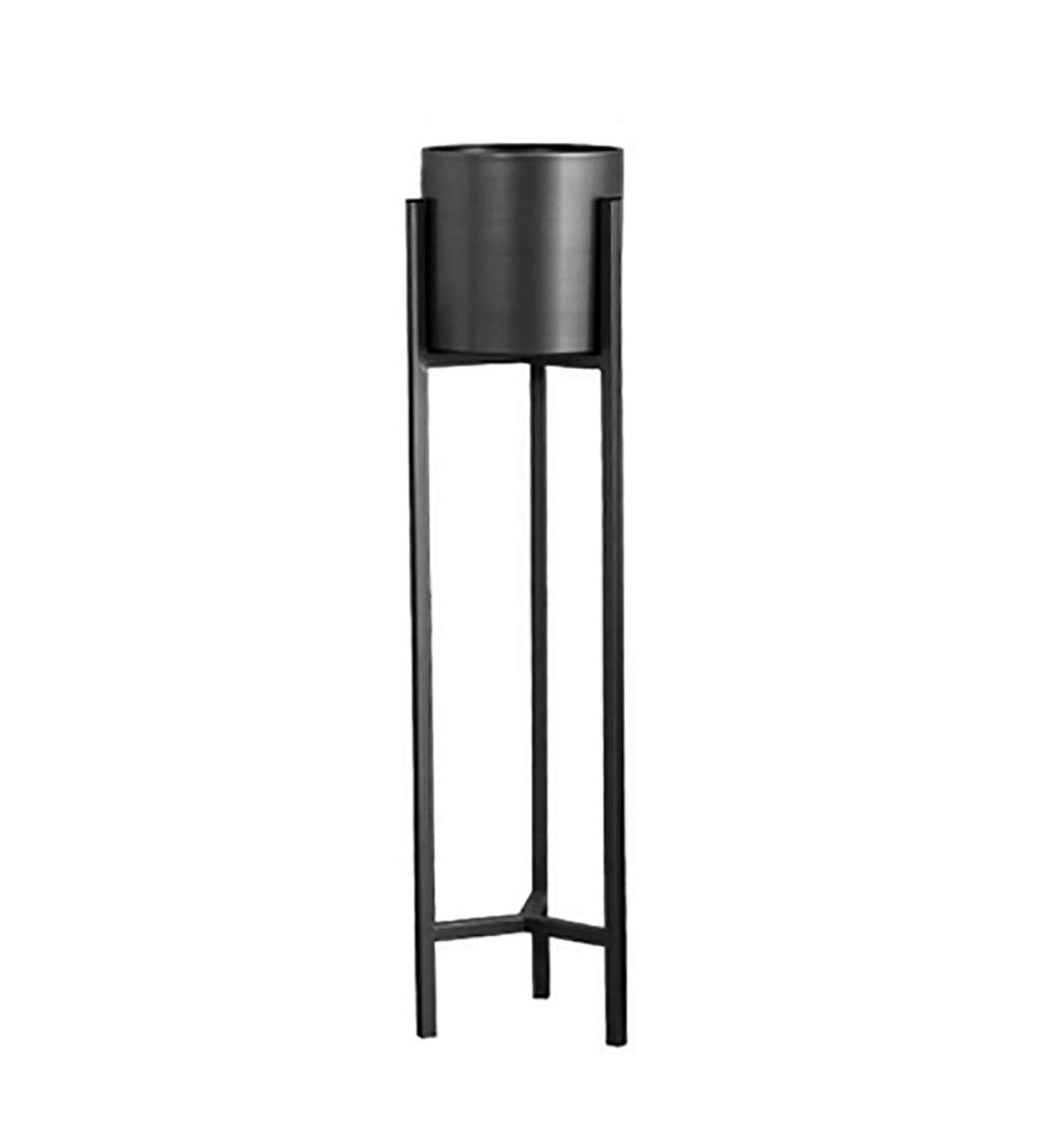 NDD Nordic Flower Stand Black Metal Plant Stand - Indoor Outdoor Home Decor Terrace Flower Stand (Color : Black, Size : 9020cm)