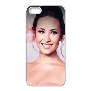 iPhone 5 5s Cell Phone Case White Demi Lavoto Music Girl Face JNR2080031