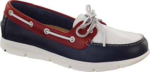 Birkenstock - Zapatos de cordones de Piel para mujer azul negro 24.5 Blue/White/Red