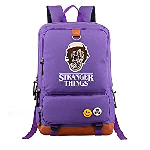 Asdfnfa Backpack, Large Capacity 20-35L Student Schoolbags Travel Package Men and Women Casual Computer Bag (Color : Purple)