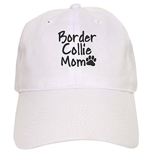CafePress Border Collie MOM Cap Baseball Cap with Adjustable Closure, Unique Printed Baseball Hat White (Hat White Collie)