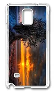 Adorable frosty sunset Hard Case Protective Shell Cell Phone HTC One M8 - PC Transparent