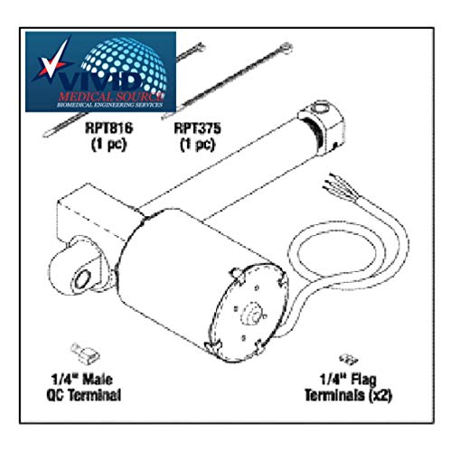 Actuator for MIDMARK - RITTER Exam Table & Chair 411 & 411(75L) MIA215 Oem 002-0495-00 ()