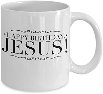 Amazon.com: Feliz cumpleaños, Jesús. Taza de café de 325 ml ...