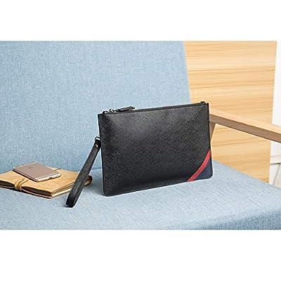 DANJUE Genuine Leather Men Clutch Bag Handbag Organizer Super Slim Anti-theft Checkbook Wallet Card Case