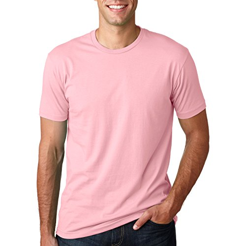 Next Level Mens Premium Fitted Short-Sleeve Crew T-Shirt - Medium - Light Pink
