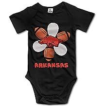 ElishaJ University Of Arkansas Babys Boy's/Girl's Bodysuit Outfits Black