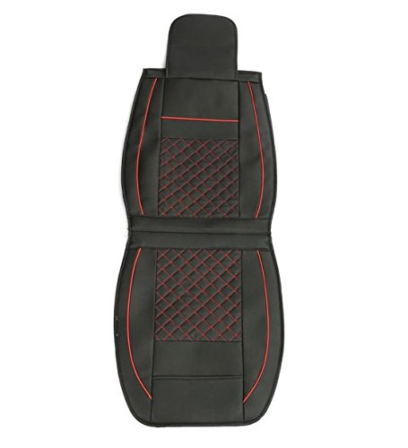 MD Group Car Seat Cover 5 Seat PU Leather Front & Rear Seat Set Full Surround Needlework 10pcs by MD Group (Image #4)
