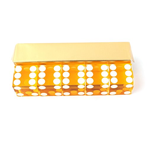 IDS Yellow Casino Craps Dice 19mm Grade Set of 5 Razor Edge Stick by IDS