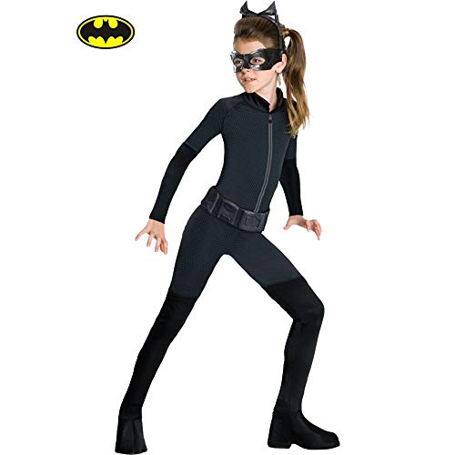 RUBIE'S COSTUME CO The Dark Knight Rises Catwoman Halloween Costume for Girls, Medium, with Included Accessories ()
