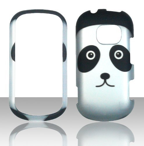 Lg Extravert Vn271 Rubber - 2D Panda Design LG Extravert Vn271 Verizon Case Cover Hard Case Snap-on Case Cover Rubberized Frosted Matte Surface Hard Shells