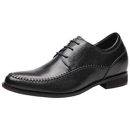 CHAMARIPA Chaussures Rehaussantes de Type Oxford Noir Pour Homme - Hauteur 7 cm-H72X92Y061D