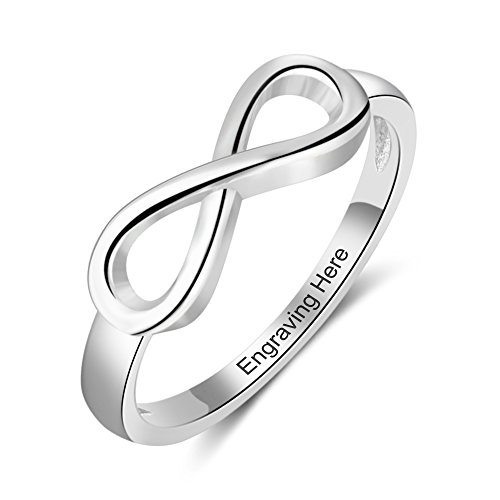 Love Jewelry Personalized Infinity Symbol Wedding Band Rings for Women Eternity Promise Rings for Her Friendship Rings (8)
