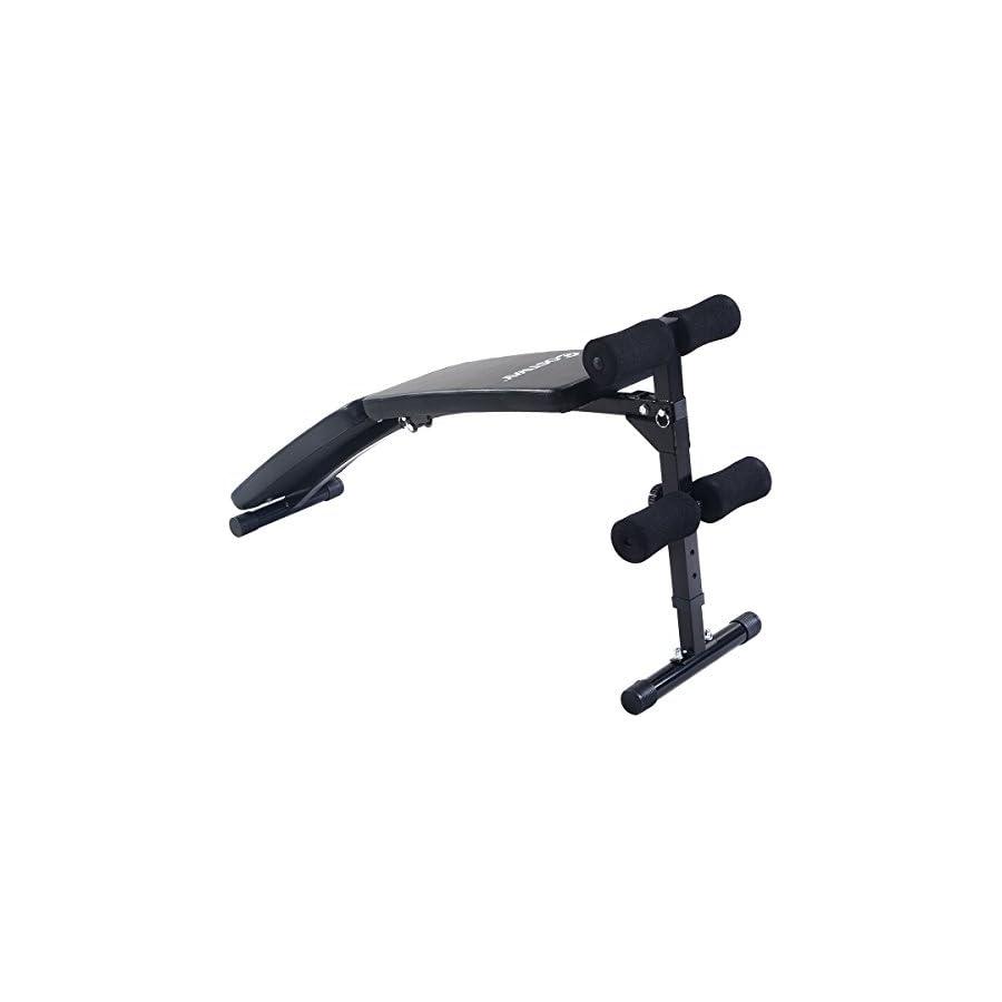 Goplus Foldable Decline Bench Sit Up Ab Fitness Adjustable Equipment