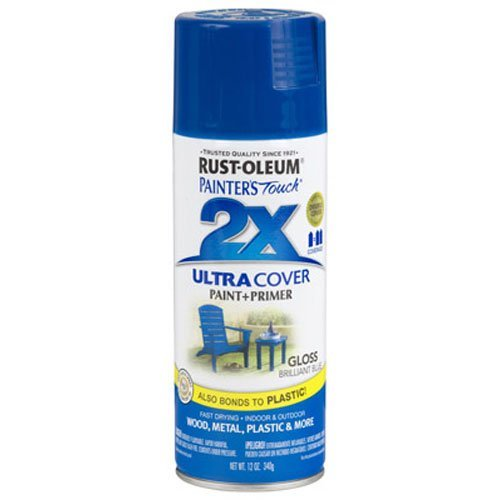 Rust-Oleum 249120 Painter's Touch Multi Purpose Spray Paint, 12-Ounce, Brilliant Blue