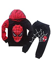 EnzoCreative New Boys Spiderman Sports Suit 2 Pieces Tracksuits 100-140cm Jacket and Pants