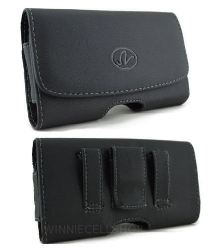 Leather Belt Clip Case Cover Holster for iPhone 5S Fit w/ LIFEPROOF CASE ON IT