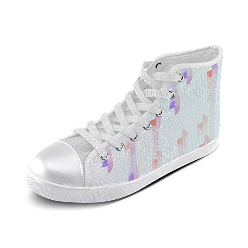 Artsadd Artsdd Custom Hue Drops High Top Canvas Shoes For Women (model002)