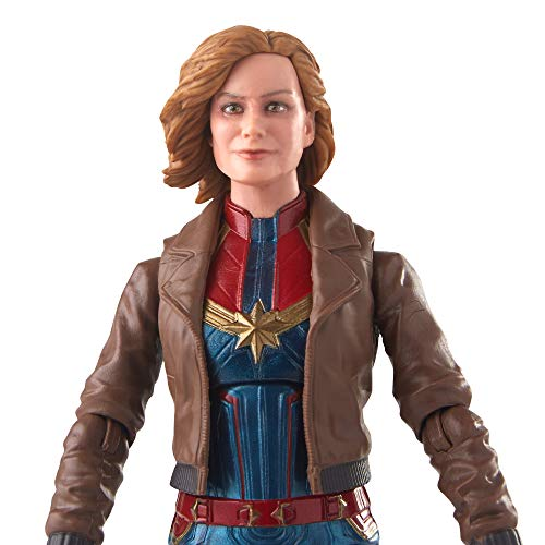 Marvel Captain Marvel 6-inch Legends Captain Marvel in Bomber Jacket Figure for Collectors, Kids, and Fans