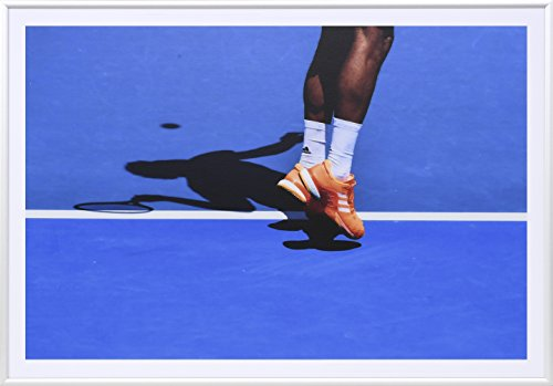 Premium Tennis Gift: Art Photography in a Luxury Frame (Orange) (Australian Outdoor Furniture Company)
