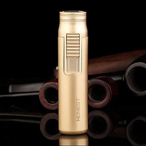 (IPRee Zinc Alloy Outdoor Mini Ignitor Starter Lighter Refillable Butane Windproof Torch Lighter - Rose Gold )