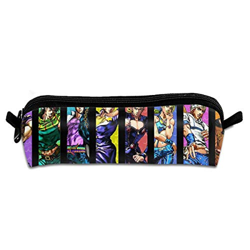 HannahMia Unisex School Office Jojos Bizarre Adventure Fashion Big Capacity Music Band Anime Cartoon Pencil Case Pouch Stationery Organizer Stationery Bag Gift