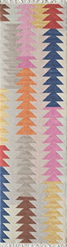 -3MTI2380 Caravan Collection, 100% Wool Hand Woven Transitional Area Rug, 2'3