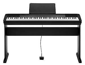 casio cdp 130 piano digital con soporte 88 teclas 48 notas 5 canciones color negro. Black Bedroom Furniture Sets. Home Design Ideas